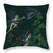 Ditchweed Fairy Raspberry Picking Throw Pillow