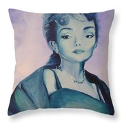 Diva I Maria Callas  Throw Pillow