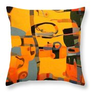 Diverging Pathways Throw Pillow
