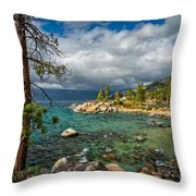 Divers Cove At Lake Tahoe Throw Pillow