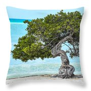 Divi-divi Aruba Throw Pillow