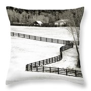 Dividing Lines Throw Pillow