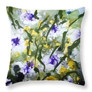 Divine Blooms-21172 Throw Pillow
