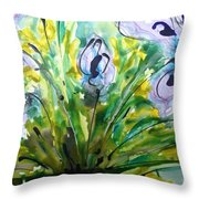 Divine Blooms-21196 Throw Pillow