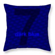 Divine Dark Blue Seven Throw Pillow