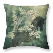 Divine Horse Whisperer Throw Pillow