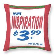 Divine Inspiration Supermarket Series Throw Pillow