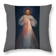 Divine Mercy Throw Pillow