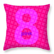 Divine Pink Number Eight Throw Pillow