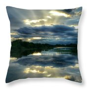 Divine Rays Throw Pillow