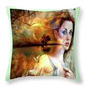 Divine Sunset Throw Pillow