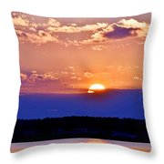 Divine Sunset On The Indian River Bay Throw Pillow