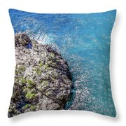 Diving In Italy Throw Pillow