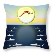 Diving Into Unknown Waters Throw Pillow