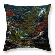 Diving The Reef Series - Sea Floor Abstract Throw Pillow