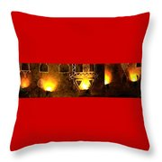 Diwali Lamps And Murals Blue City India Rajasthan Wide 2e Throw Pillow