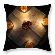 Diwali Lamps Throw Pillow