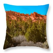 Dixie National Forest Throw Pillow