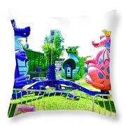 Dizzy Dragon Ride 1 Throw Pillow
