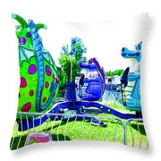 Dizzy Dragon Ride 2   Throw Pillow