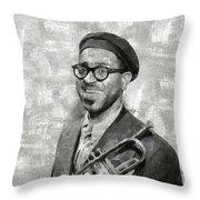 Dizzy Gillespie Vintage Jazz Musician Throw Pillow