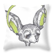Dj Chihuahua Throw Pillow