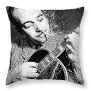 Django Reinhardt Throw Pillow