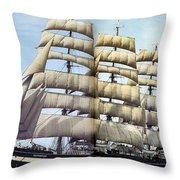 dk tall ships kruzenshtern barque lyr 1926 full D K Spinaker Throw Pillow