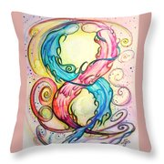 Dna Conflict Throw Pillow
