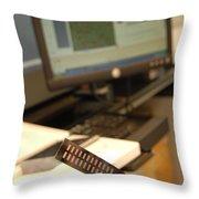 Dna Microarray Throw Pillow