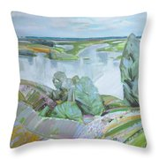 Dnepro River Throw Pillow