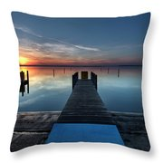 Dnr West Boat Launch Sunrise Throw Pillow