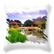 Do-00007 Japanese Gardens Throw Pillow
