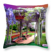 Do-00011 Wisteria Walk Throw Pillow