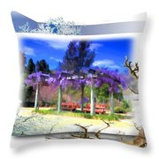 Do-00013 Wisteria Branches Throw Pillow