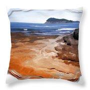 Do-00016 Pearl Beach Throw Pillow