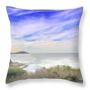 Do-00018 Look Out At Terrigal Throw Pillow