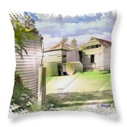 Do-00027 Old Cottage Throw Pillow
