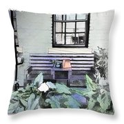Do-00056 Shop Front In Morpeth Village Throw Pillow
