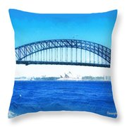 Do-00057 Harbour Bridge Throw Pillow