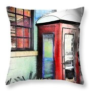 Do-00091 Telephone Booth In Morpeth Throw Pillow