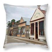 Do-00098 Town Centre - Sovereign Hill Throw Pillow