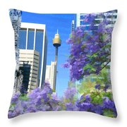 Do-00106 Spring In Sydney Throw Pillow