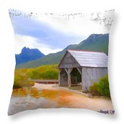 Do-00107 Boat House Throw Pillow