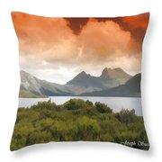Do-00140 Cradle Mountains Throw Pillow