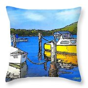 Do-00147 Resting Boats Throw Pillow
