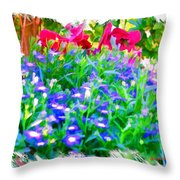 Do-00221 Flowers Throw Pillow