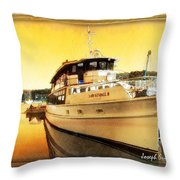 Do-00234 Lady Kendall In Sunset Throw Pillow