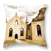 Do-00248 Church At Port Arthur Throw Pillow