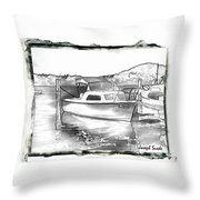 Do-00250 A Boat Throw Pillow